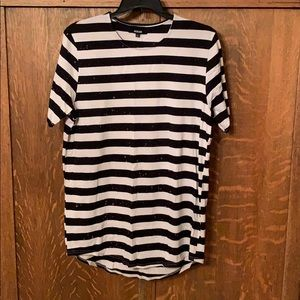 Jackson striped bleach stained tshirt large men's